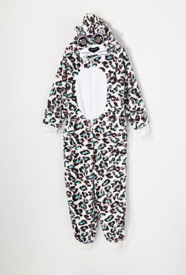 Youth Cheetah Plush Onesie