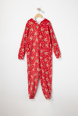 Girls Velour Zip-Up Onesie