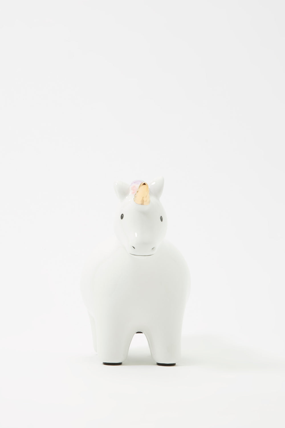 Girls Star Unicorn Coin Bank White