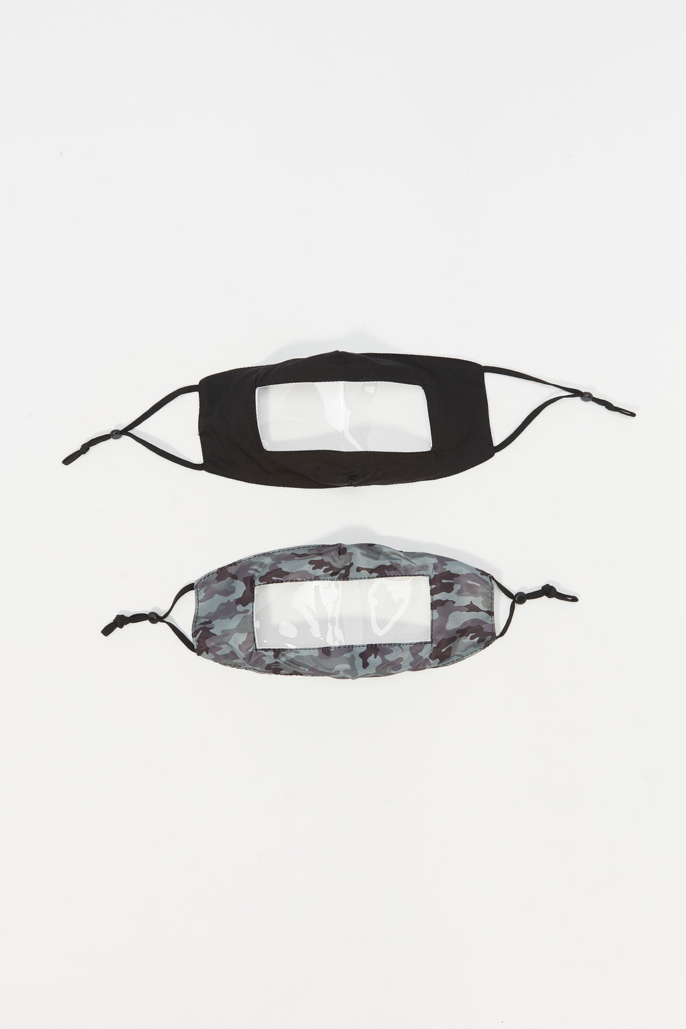 Youth Washable & Reusable Clear Insert Face Mask (2 Pack) Camouflage