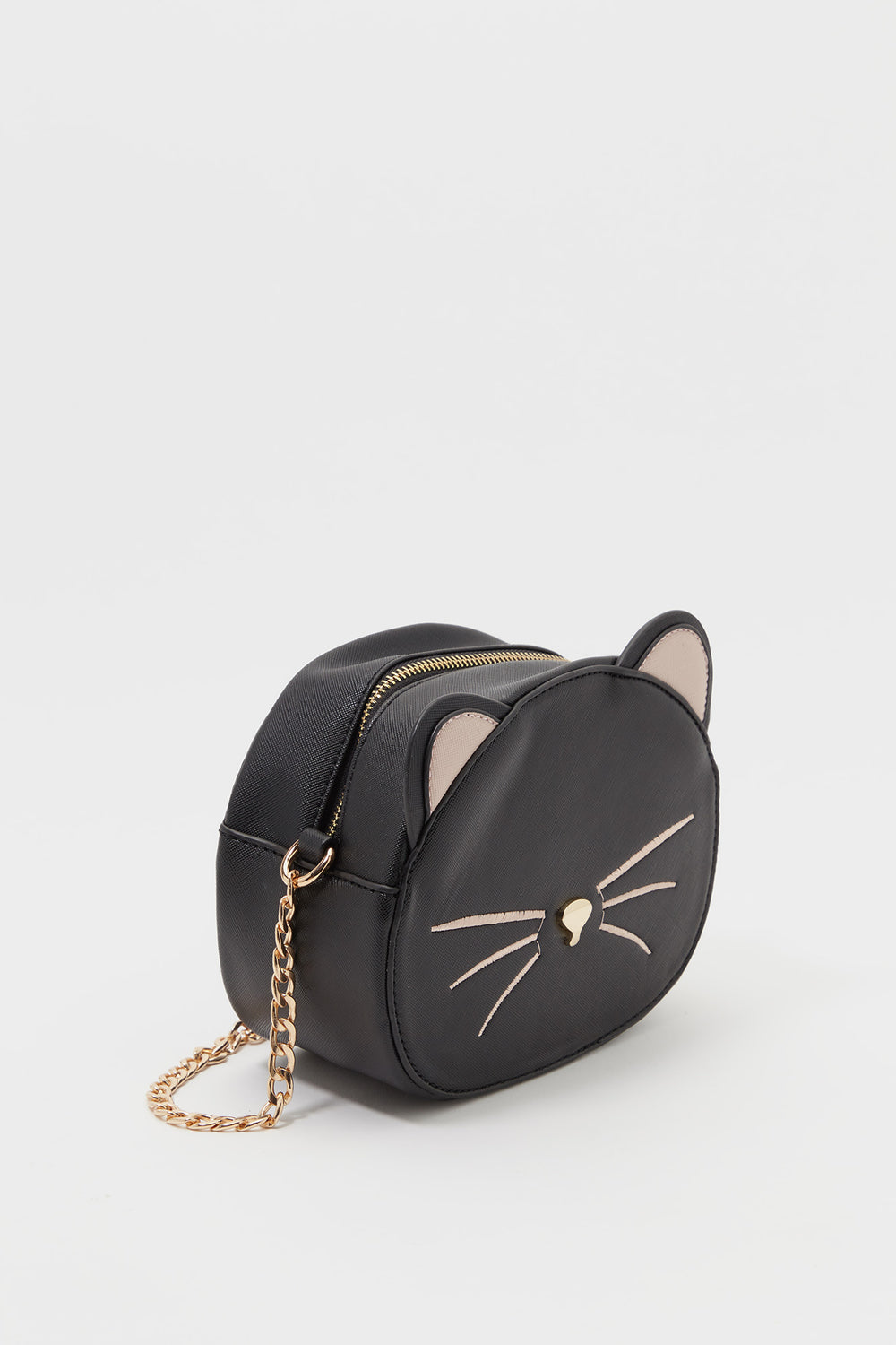 Girls Cat Crossbody Bag Black