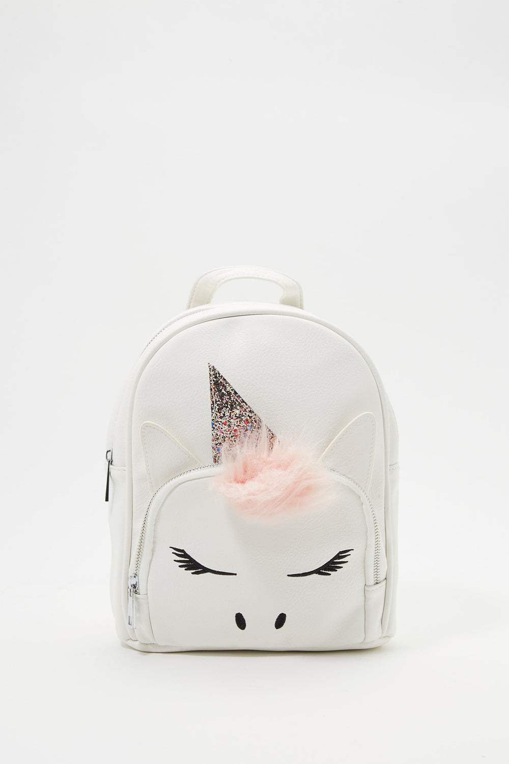 Girls Glitter Unicorn Backpack White