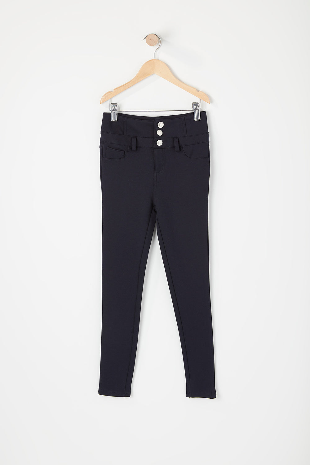 Girls 3-Tier High-Rise Jegging Navy
