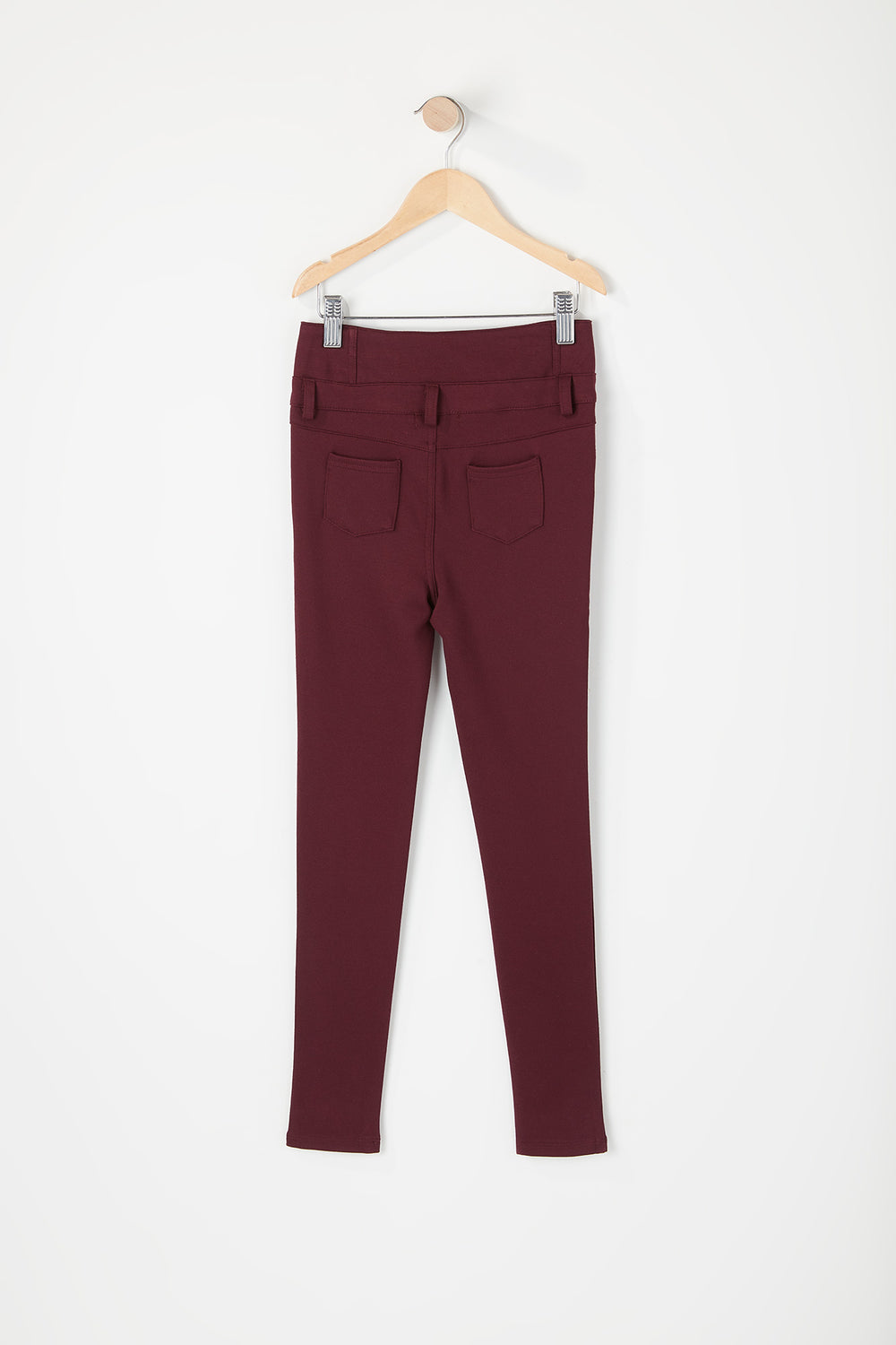 Girls 3-Tier High-Rise Jegging Wine