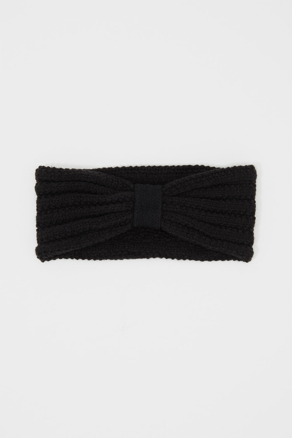 Girls Knit Head Wrap Black