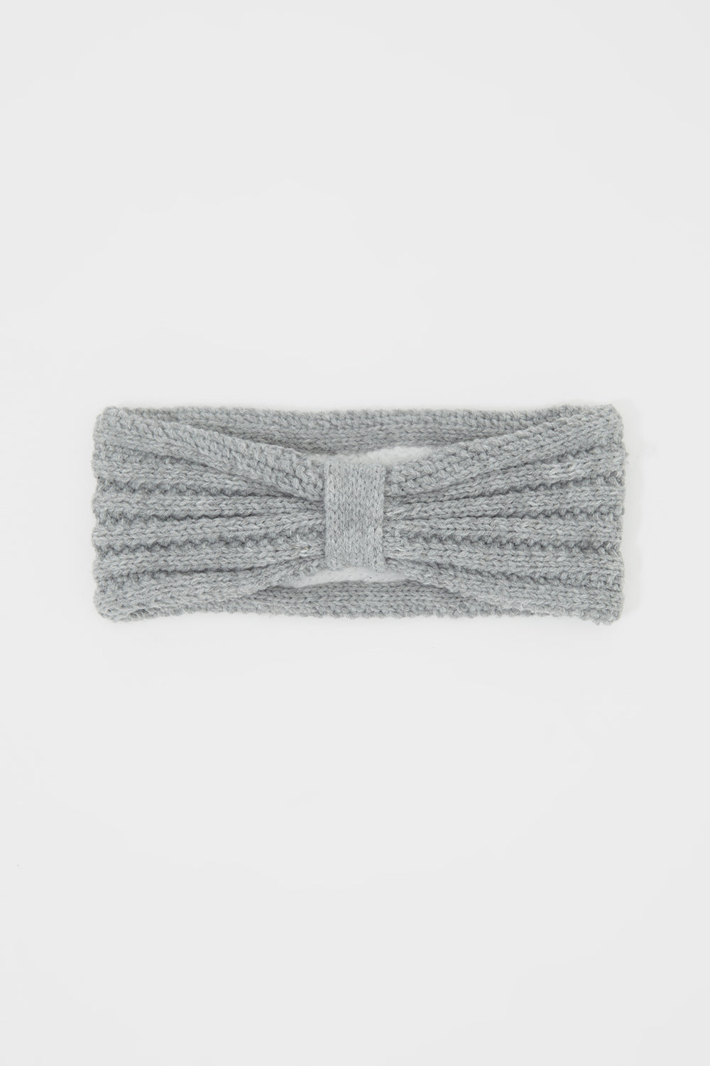 Girls Knit Head Wrap Heather Grey