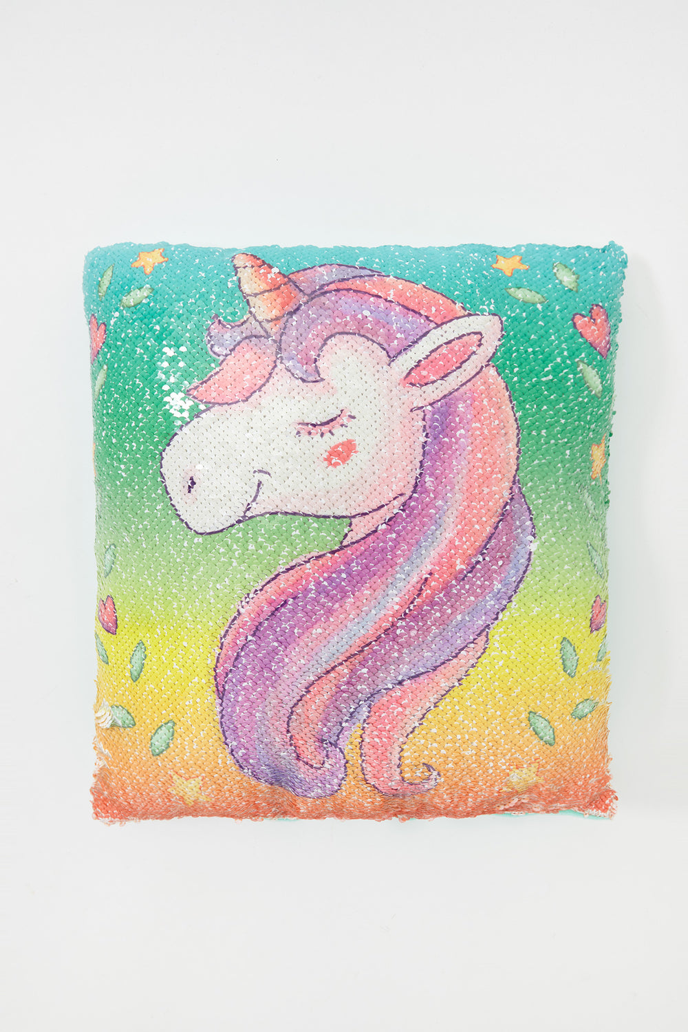 Girls Unicorn Reversible Sequin Pillow Multi
