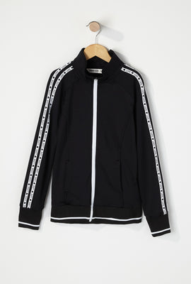 Girls Graphic Side Zip-Up Track Jacket