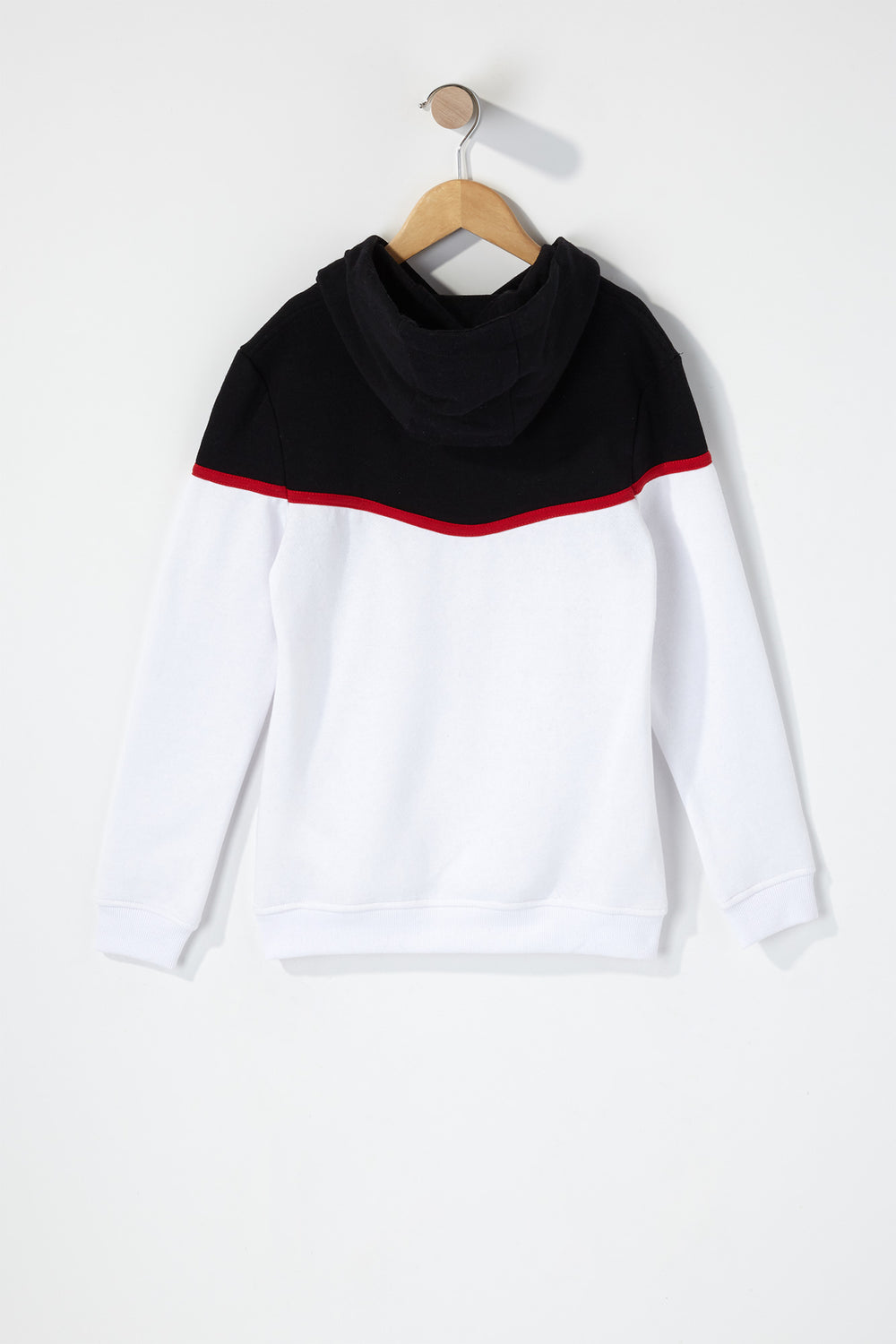 Boys Colour Block Graphic Hoodie White