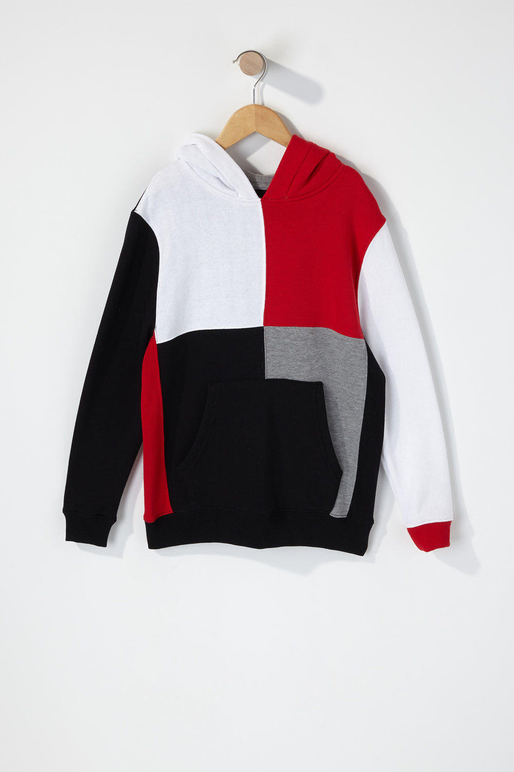 Boys Colour Block Hoodie Black