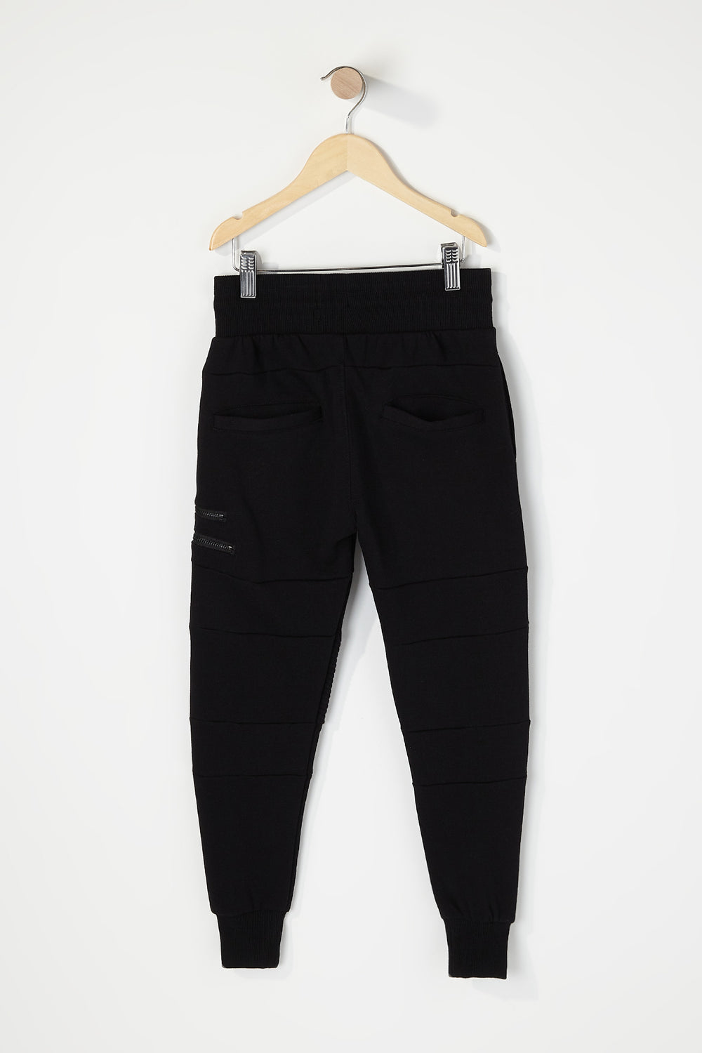 Boys Moto Zip Jogger Black