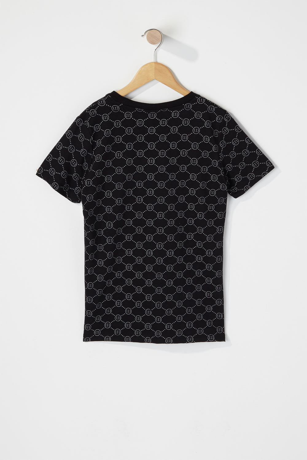 Boys Original Logo Embossed T-Shirt Black
