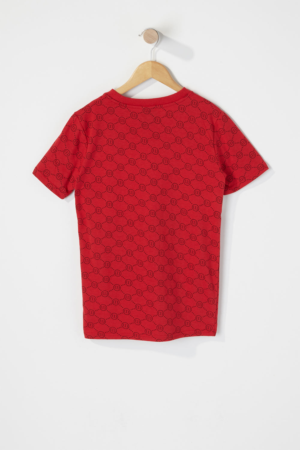Boys Original Logo Embossed T-Shirt Red