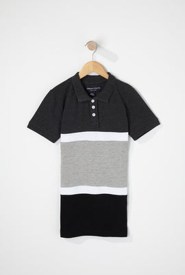 Boys Colour Block Henley Polo T-Shirt