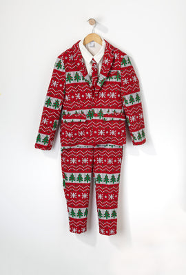 Boys Christmas Tree Suit (3 PC)