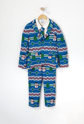Boys Snow Christmas Suit (3 PC)