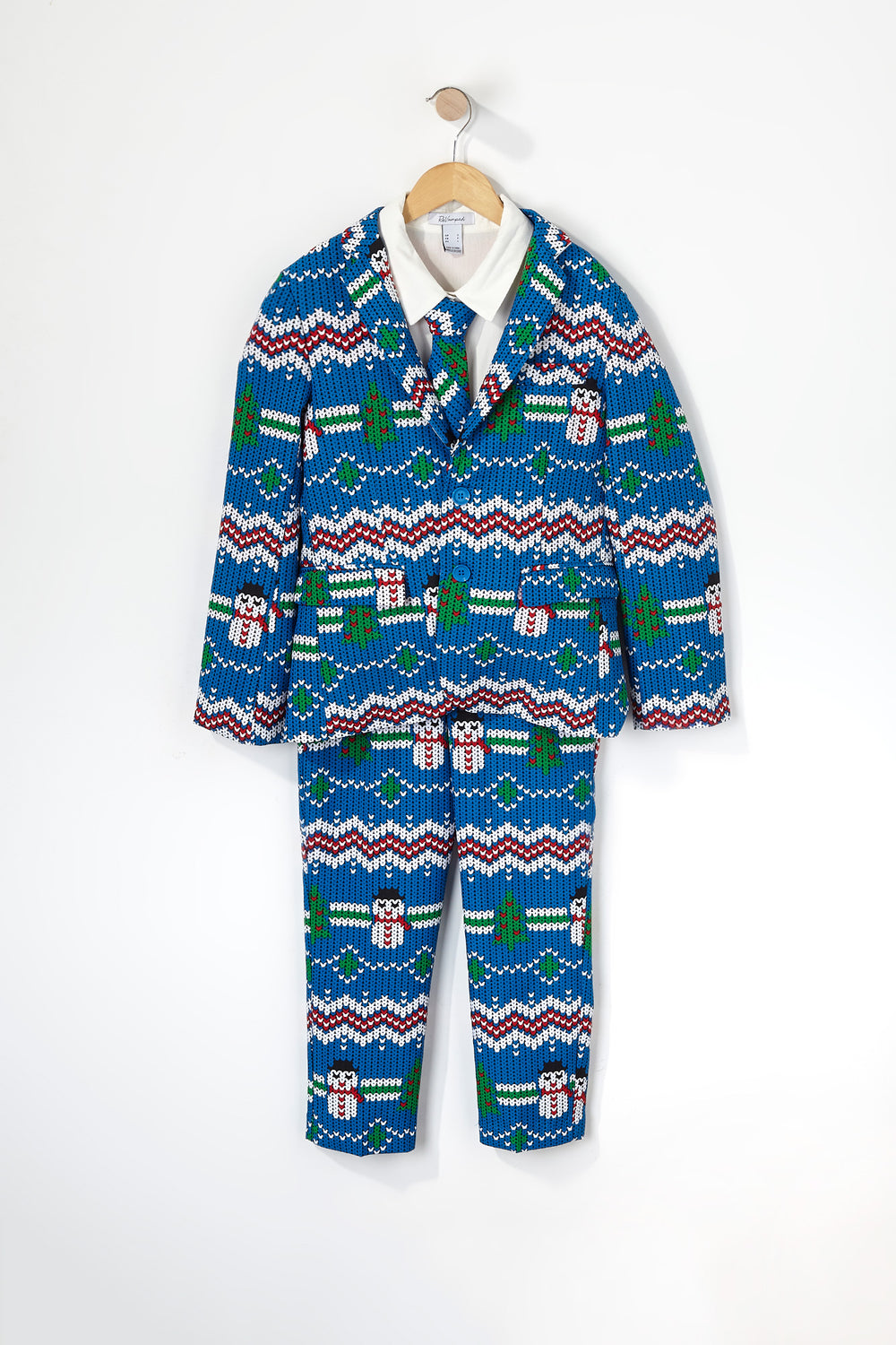 Boys Snow Christmas Suit (3 PC) Blue
