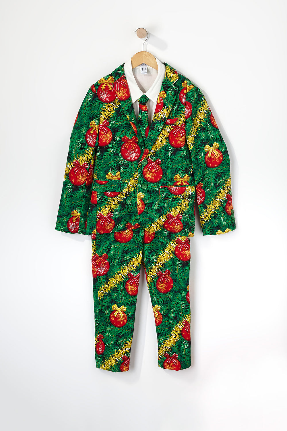 Boys Christmas Globe Suit (3 PC) Green