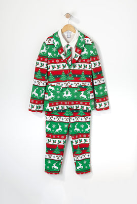 Boys Christmas Mistletoe Suit (3 PC)