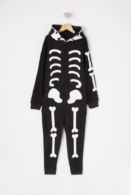 Youth Skeleton Glow in the Dark Onesie