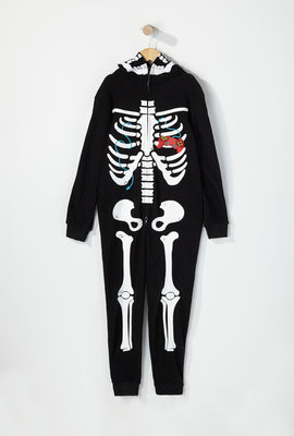 Youth Skeleton Gamer Onesie