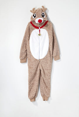 Youth Holiday Rudolph Onesie