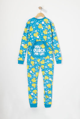 Youth Fammy Jammies You Quack Me Up Onesie