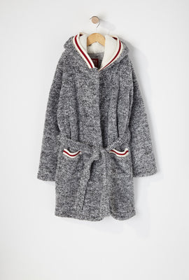 Youth Fammy Jammies Sherpa Contrast Stripe Robe