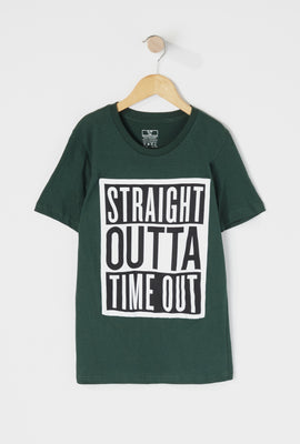 Boys Straight Outta Time Out Graphic T-Shirt