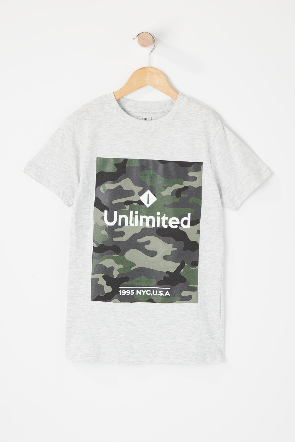 Boys Unlimited Graphic T-Shirt Oatmeal