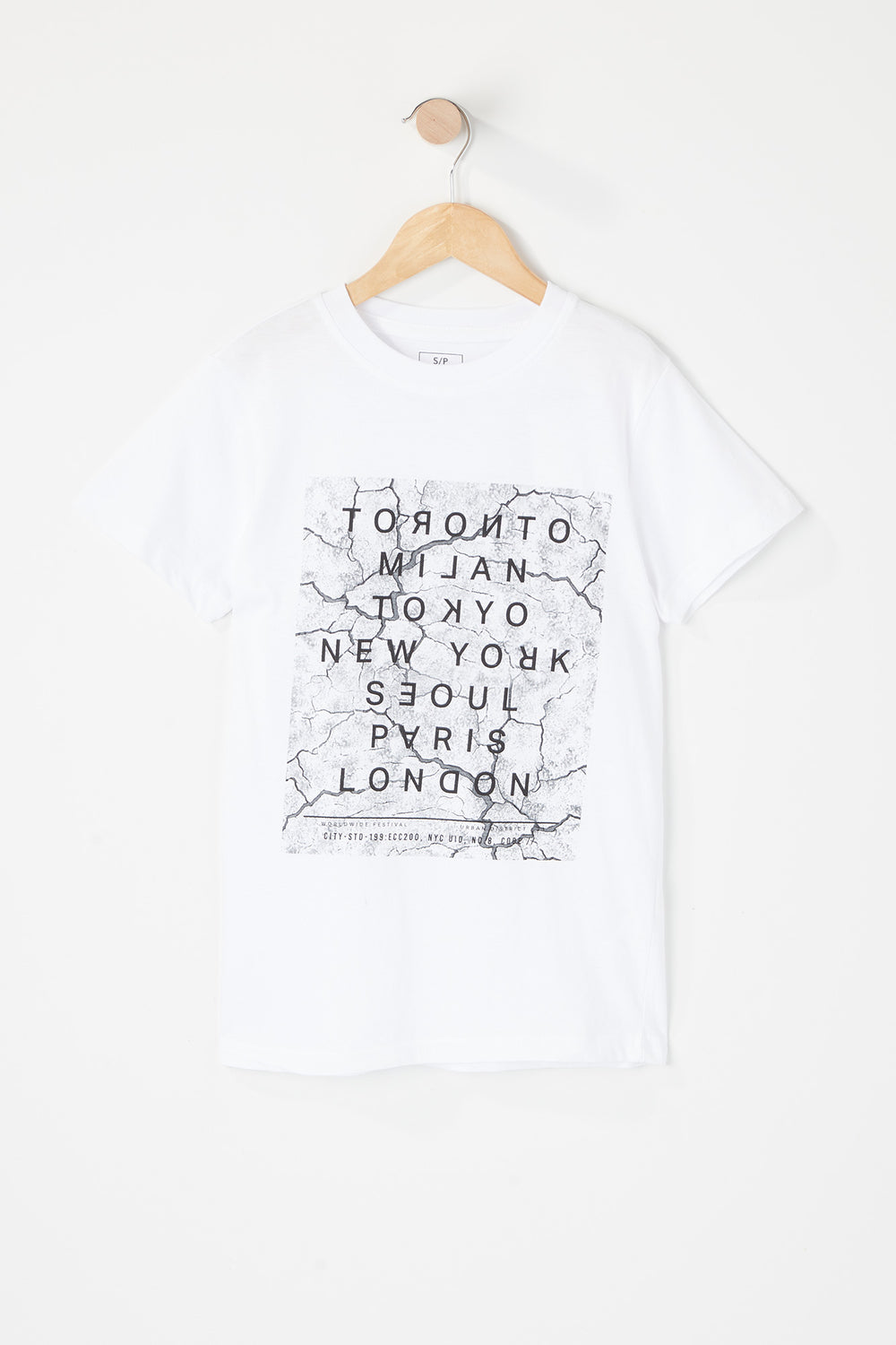 Boys Marble City Graphic T-Shirt White
