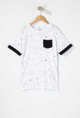 Boys Splatter Contrast T-Shirt