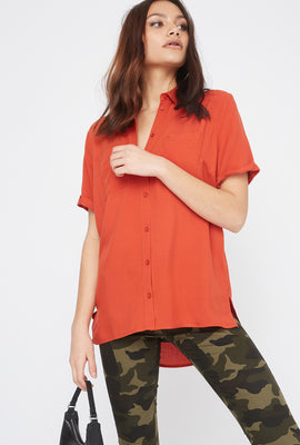 Button-Up Short Sleeve Shirt