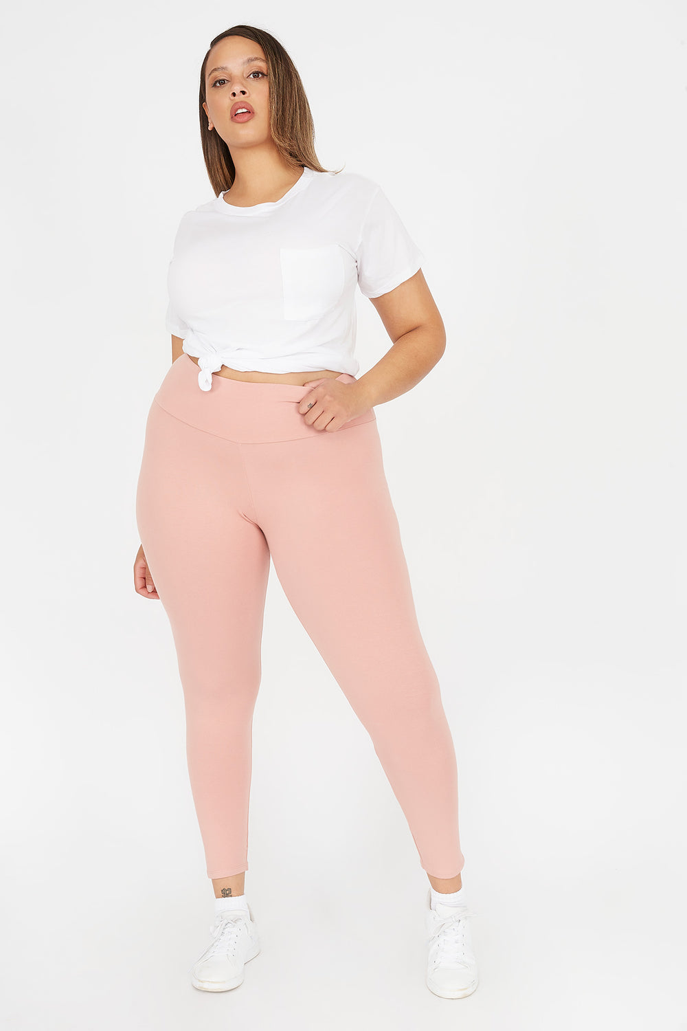 Plus Size High-Rise Legging Mauve