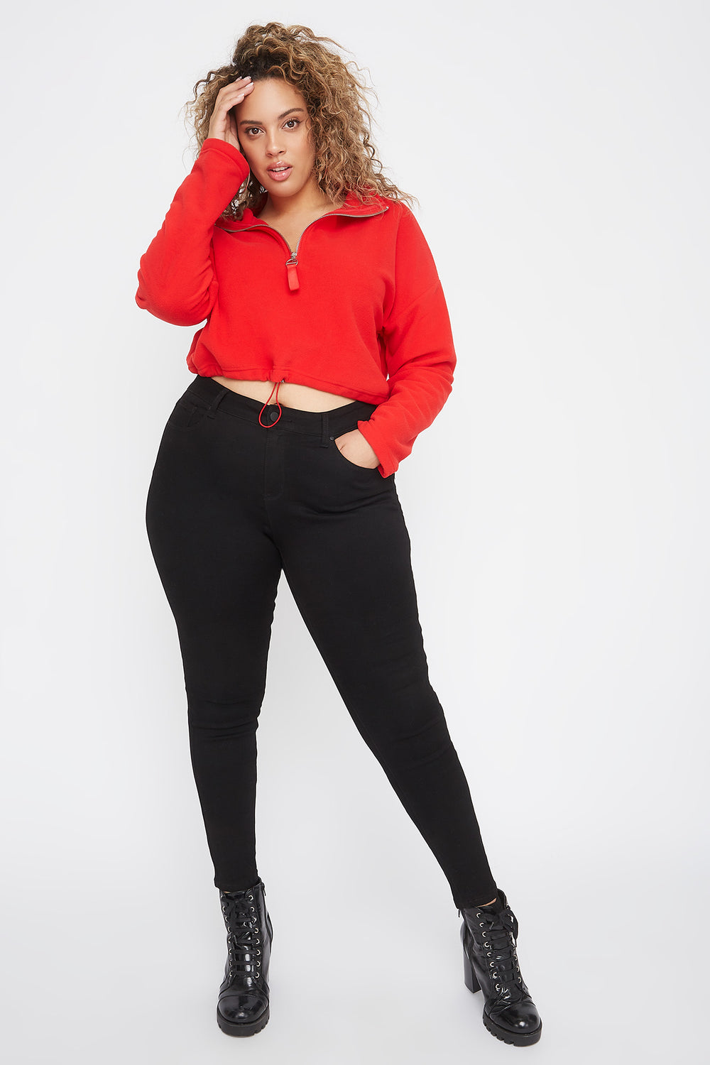 Plus Size High-Rise Skinny Jean Black