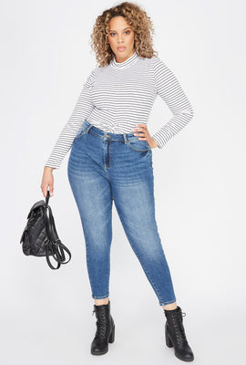 Plus Size Butt, I Love You High-Rise Push-Up Skinny Jean