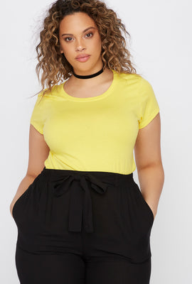 Plus Size Basic Crew Neck T-Shirt