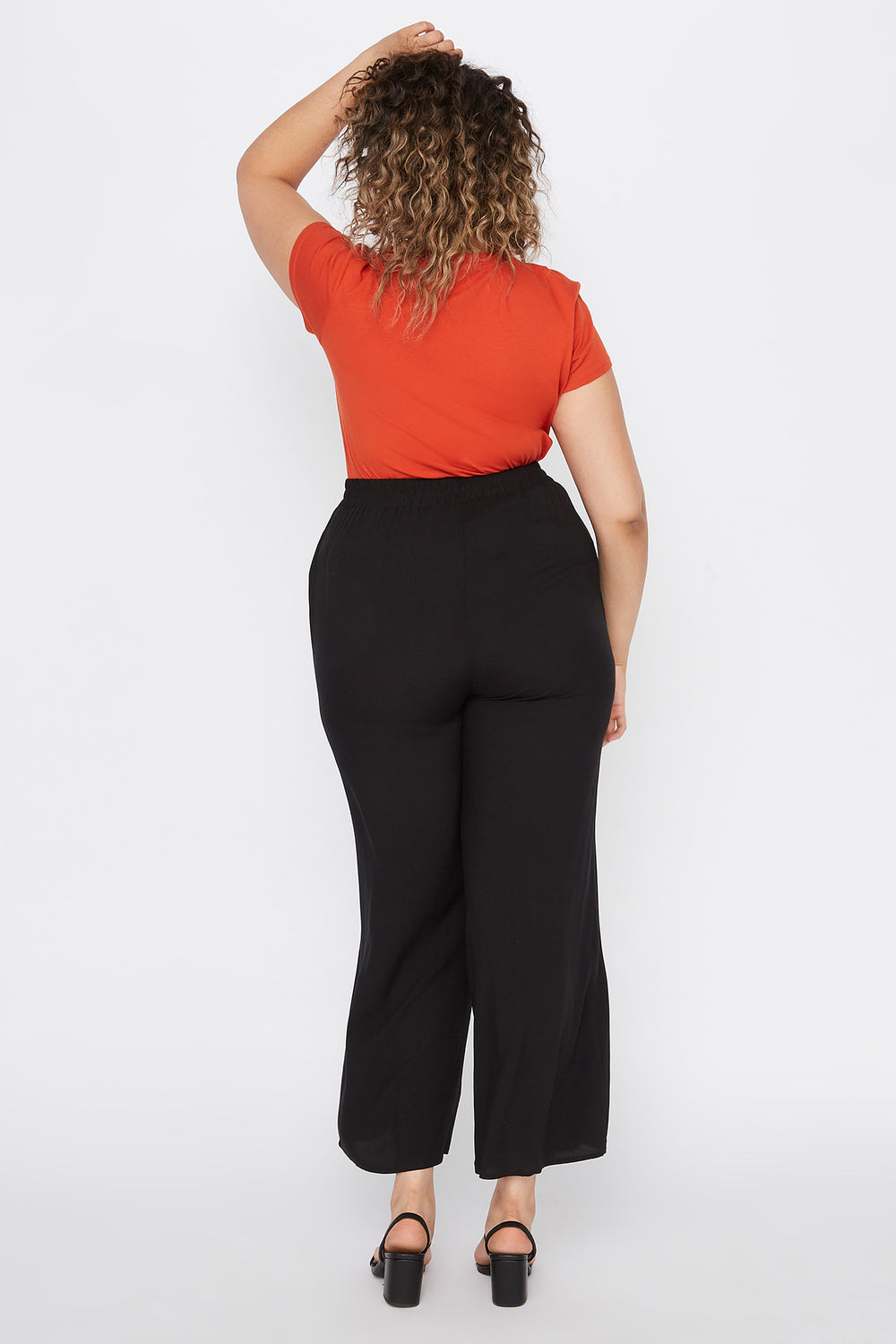 Plus Size Basic Crew Neck T-Shirt Rust