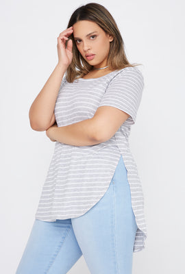 Plus Size Striped Relaxed T-Shirt