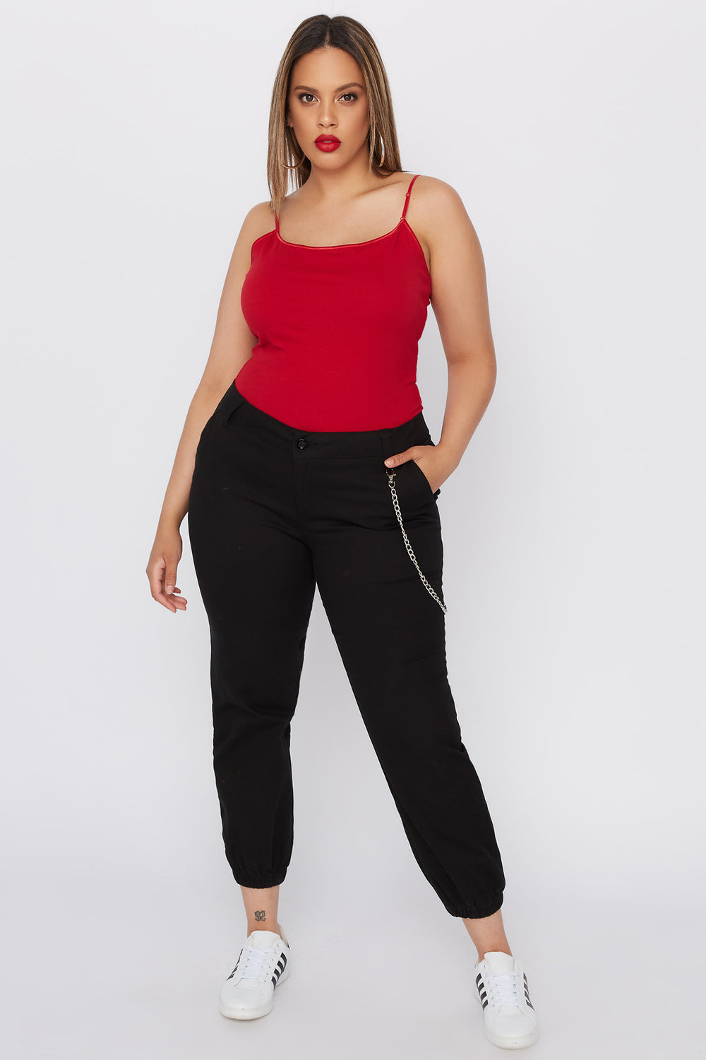 Plus Size Bra Camisole Red
