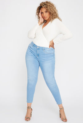 Plus Size Butt, I Love You High-Rise Tulip Push-Up Skinny Jean