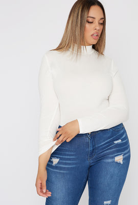 Plus Size Mock Neck Long Sleeve