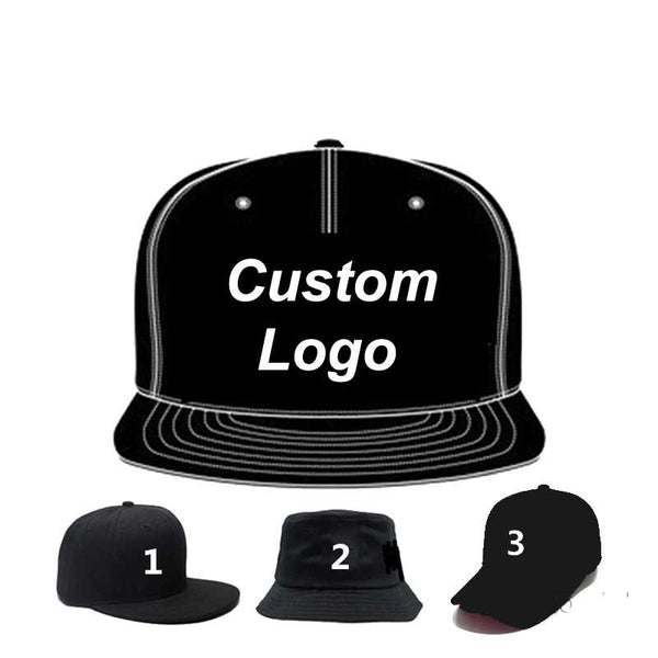 10 x 3D Embroidery Logo Customize Caps