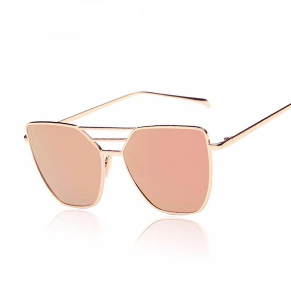 Lucy Flat Top Mirrored Sunglasses
