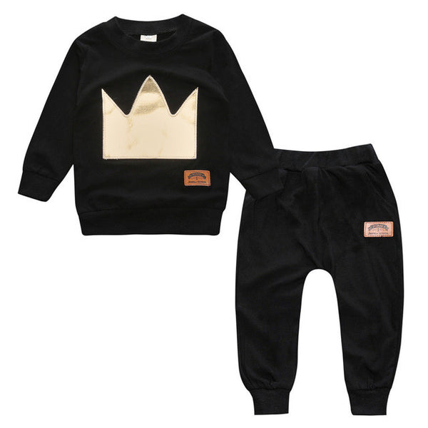 Little Royalty Long Sleeve Top and Pants Set