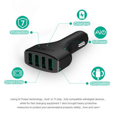 4 ports Universal USB Phone Car Charger