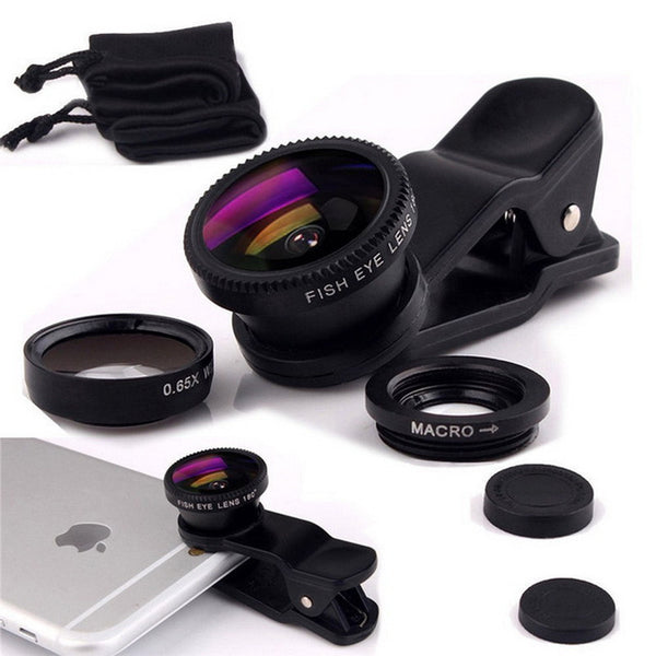 3 in 1 Wide Angle Macro Lens for Smartphone