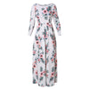 Floor-length Empire Dress with Flower Print