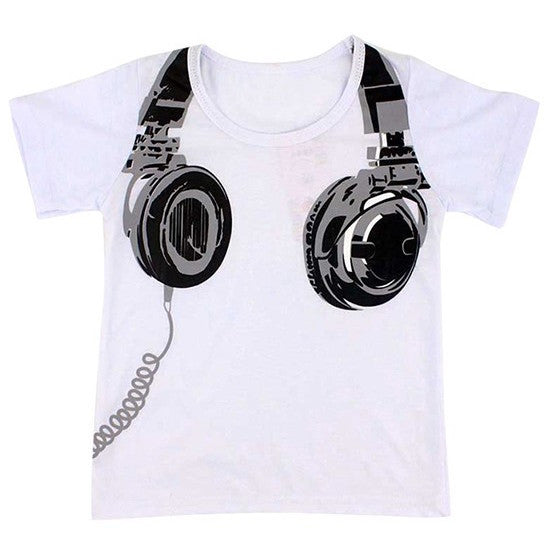 Cool Headphones T-Shirt for age 2-6 yrs
