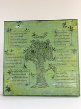 Loves an original poem on canvas from poempieces.com in spring green